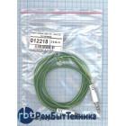 Аудио кабель Jack 3.5 - Jack 3.5, 1м (круглый кабель) зеленый