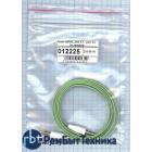 Аудио кабель Jack 3.5 - Jack 3.5, 1м (плоский кабель) зеленый