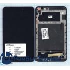 Модуль (Матрица, экран, дисплей + тачскрин) Asus MeMO Pad 8 ME581 черный с рамкой