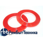 Скотч двусторонний прозрачный 3M с красной защитной лентой ширина 3мм 25м