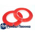 Скотч двусторонний прозрачный 3M с красной защитной лентой ширина 5мм 25м