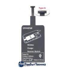 QI-адаптер для беспроводной зарядки Универсальный под разъем micro usb (Type A)