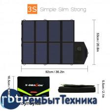 Зарядное устройство на солнечных панелях ALLPOWERS AP-18V28W USB 5V 18V 28W 1555mA/2.1A