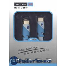 Кабель Vention HDMI-HDMI 5m серый плоский