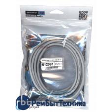 Кабель Vention USB 2.0 AM - USB AF 3m серый круглый