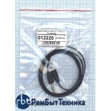 Аудио кабель Jack 3.5 - Jack 3.5, 1м (плоский кабель) черный