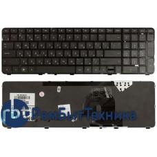 Клавиатура для ноутбука HP Pavilion dv7-4000 черная c черной рамкой