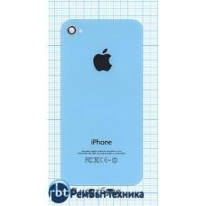 Задняя крышка для iPhone 4/4s (OEM) голубая
