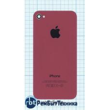 Задняя крышка для iPhone 4/4s (OEM) розовая
