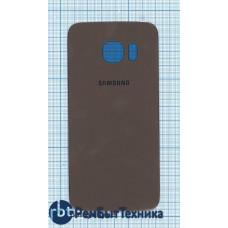 Задняя крышка Samsung G925  Galaxy S6 Edge золотая