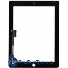 Сенсорное стекло (тачскрин) для Ipad 3 4 черное