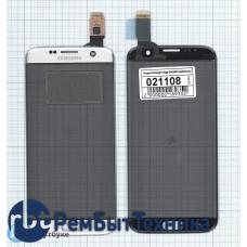 Сенсорное стекло (тачскрин) Samsung Galaxy S7 Edge SM-G935F серебристое