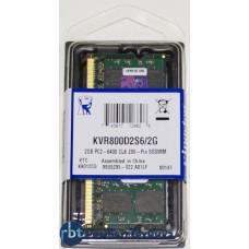 Модуль памяти KINGSTON VALUERAM KVR800D2S6/2G DDR2- 2Гб, 800, SO-DIMM, Ret