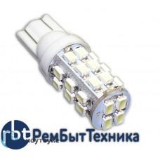 Светодиодная автолампа W5W T10 - 28 SMD 3020 white (2шт.)