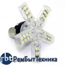 Светодиодная автолампа 1156 P21W - SMD3528 40Led 2.8W 12v Yellow (1шт.) Желтый свет