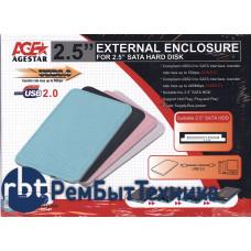 Внешний бокс для жесткого диска HDD AgeSTAR SUB207 белый USB3.0