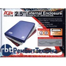 Внешний бокс для жесткого диска HDD AgeSTAR 3UB201 синий USB3.0