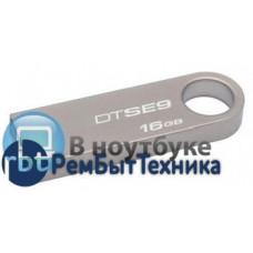Флешка USB 16Гб KINGSTON, серебристая