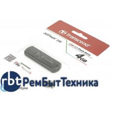 Флешка USB 4Гб TRRANSCEND, черная